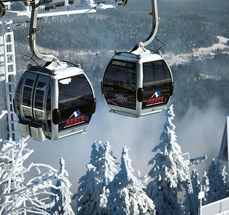 Skifahren am Arber in Bayern